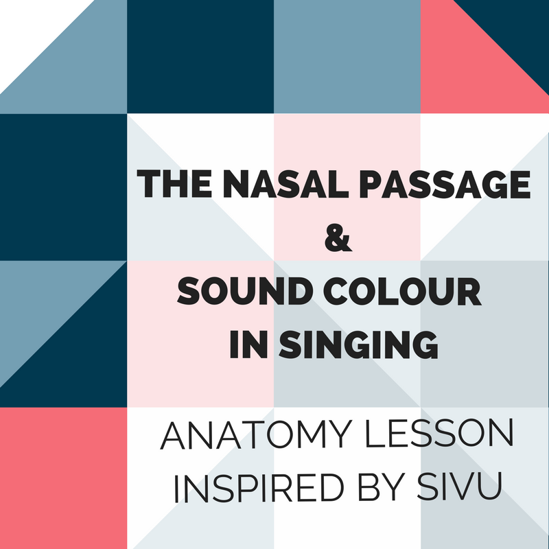 Mini lesson on the nasal passage and sound color in singing by Katja Maria Slotte. Click on to learn more!